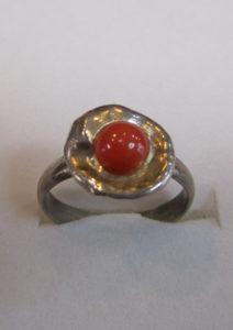 Prsten od jadranskih koralja 11 Nautilus nakit