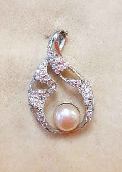 Nautilus nakit privjesak riječni biser srebro 5