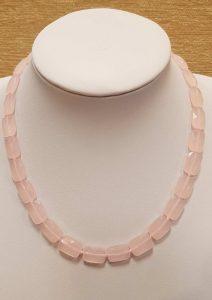 ogrlica od ružičastog kvarca 1nautilus nakit