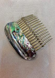 Češljić za kosu od haliotisa 2 Nautilus nakit