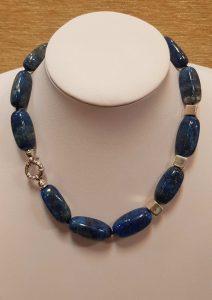 ogrlica lapis lazuli nautilus nakit