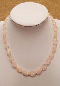 ogrlica od ružičastog kvarca 2 nautilus nakit